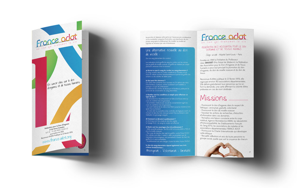 France Adot - Sector: Charity - Organ & Tissus DonationWork: Visual Identity System, Logo Design and Marketing Collateral