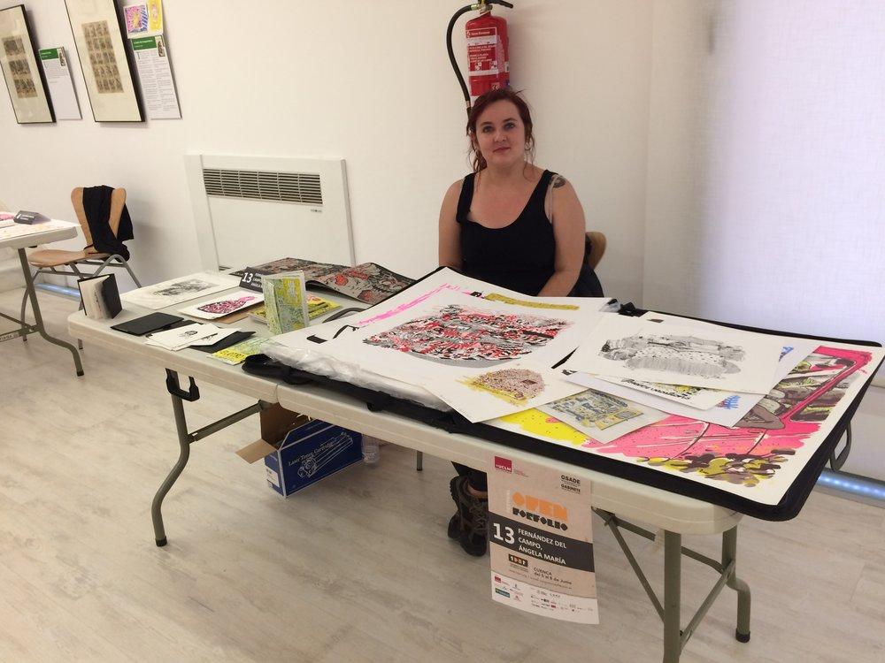 Ángela F., nuestra artista participaba en el Open Portfolio
