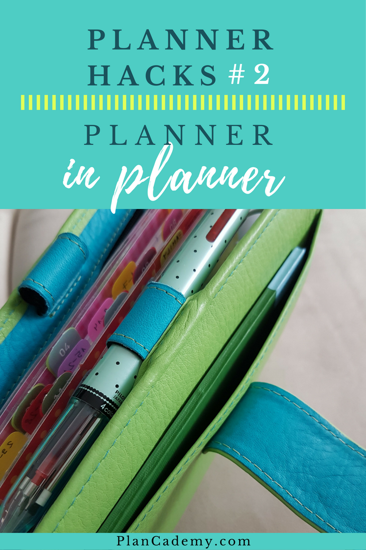 Planner Hacks #2: Planner in the planner