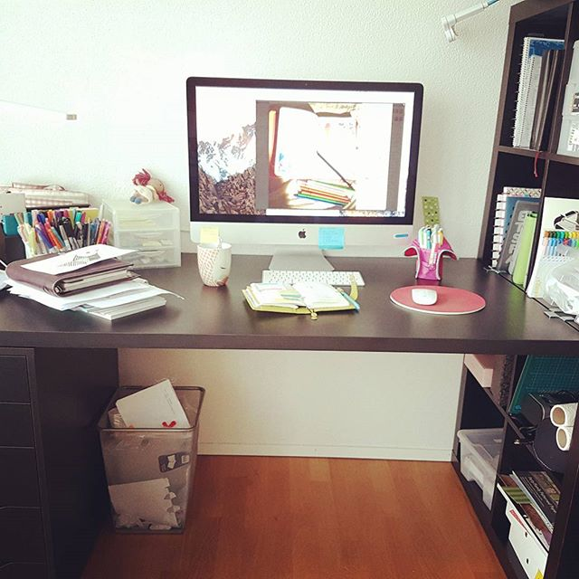 My new workspace.  #ikea #order #desk #planner #planning