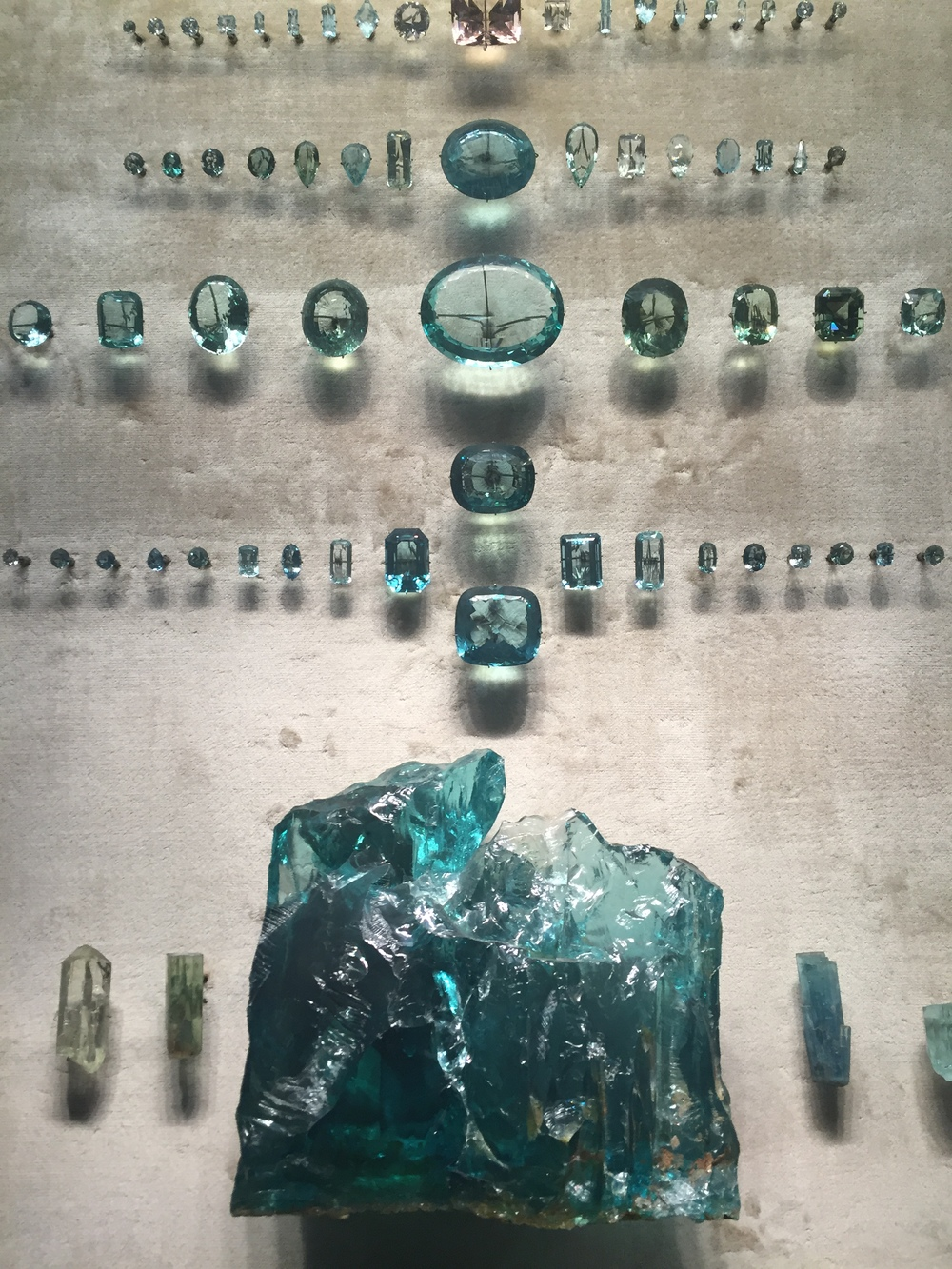 Hall of Minerals at the Museum of Natural History