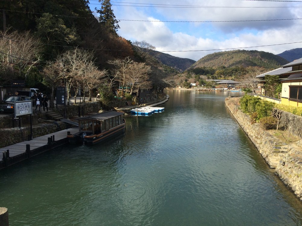 Hozu river in Arashiyama