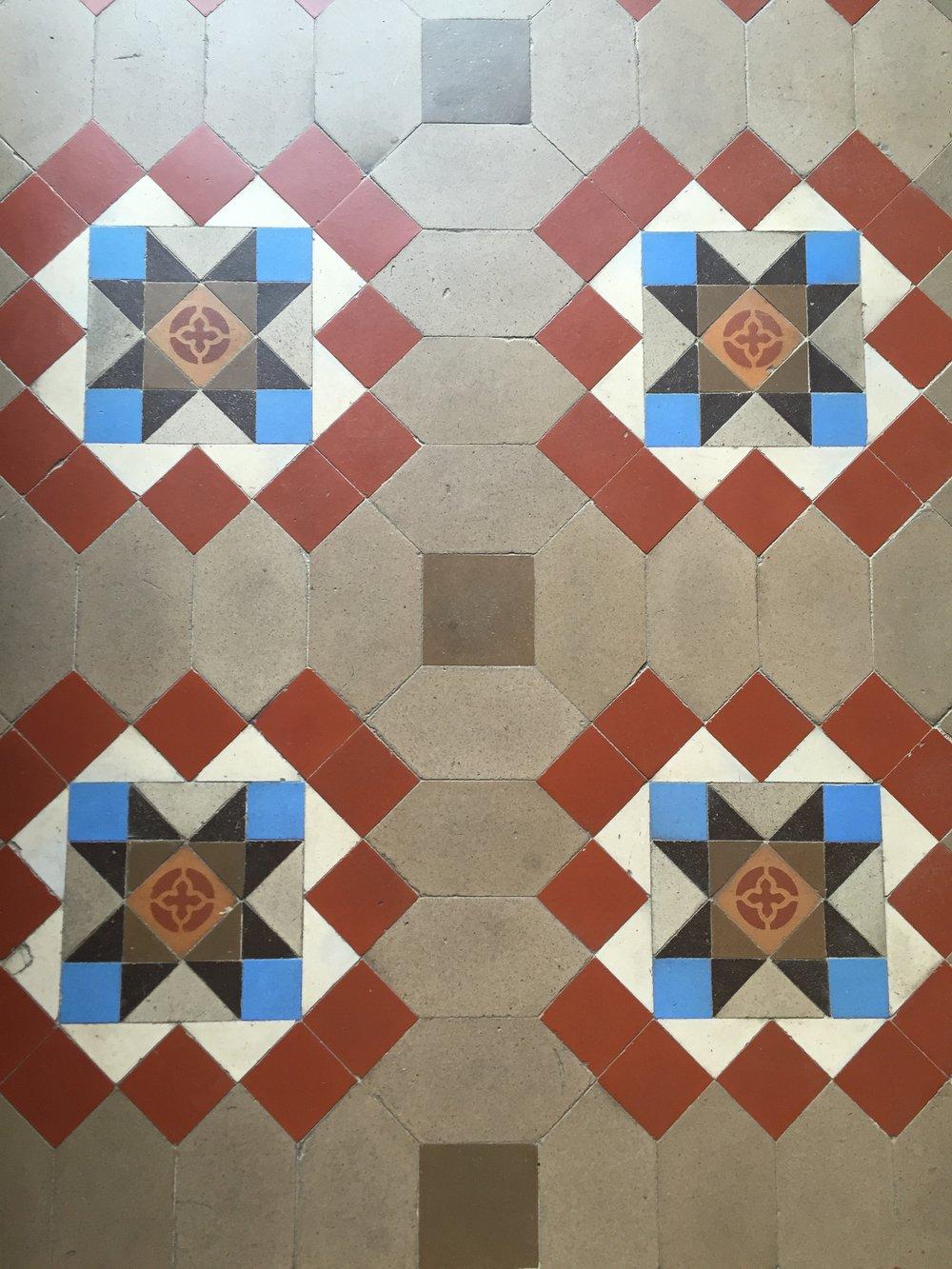 original tiled floors at Casa Bonay