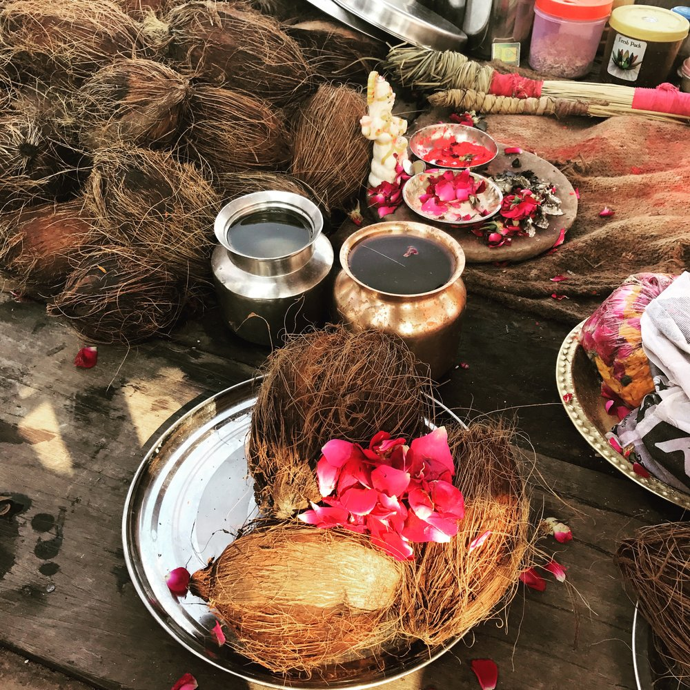 offerings in Allahbad