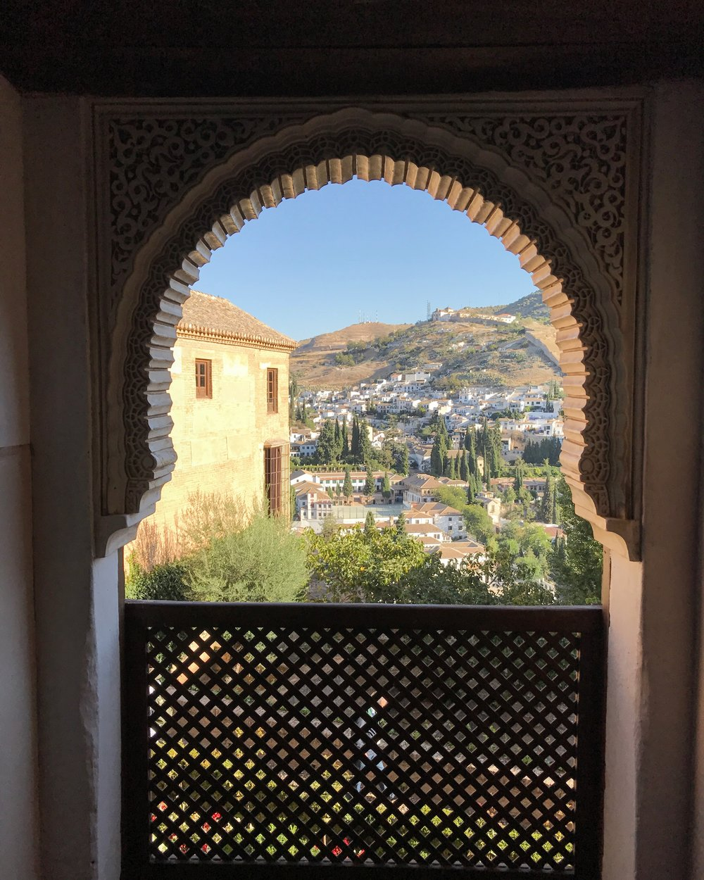 the view of Granada from inside the Alhambra