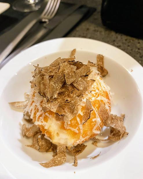 parmesan suppli with truffles