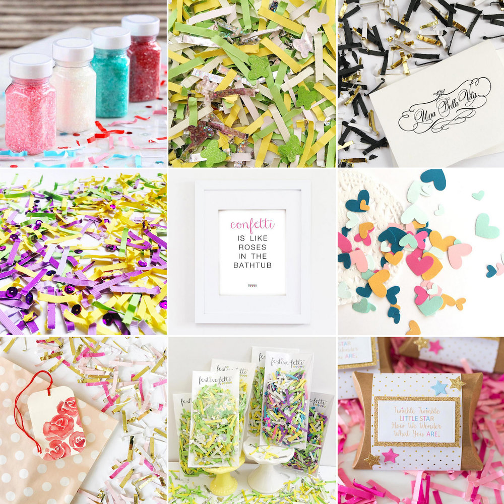 Come see all the fantastic Festive Fetti Confetti color combinations created in a month. There's a free printable included. See more at www.festivefetti.com