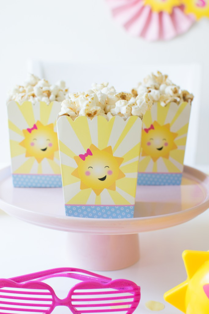 Must-Haves for celebrating summer in style with a 'You are my Sunshine' themed party - heart shaped shutter glasses are a fun party favor for the kids. From Andressa of Twinkle Twinkle Little Party - as seen on www.FestiveFetti.com