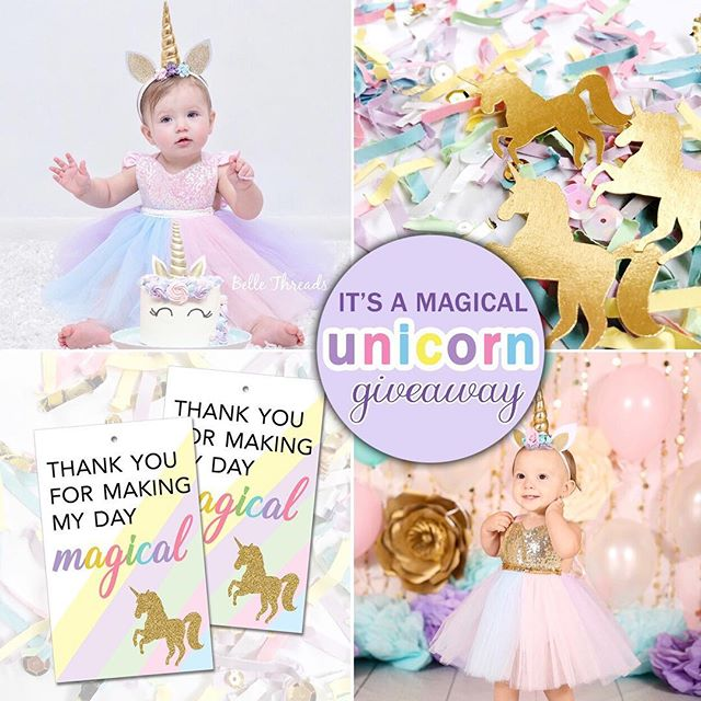 To celebrate #NationalUnicornDay 🦄 we are having a $100 store credit giveaway! ($75 to @bellethreads + $25 to @festivefetti - ENDS Friday April 13, 2018 at 11:59 pm EST. - ** It's easy to enter ** 1. Like this photo  2. Follow @bellethreads & @festivefetti ✨ Bonus Entry: Tag up to 3 Unicorn Lovers and/or moms of girls (each tag is extra entry) - This giveaway is not sponsored or endorsed by Instagram - - - - - #unicornsarereal #unicornpower #alwaysbeaunicorn #unicornlife #unicornvibes #unicornswag #unicornparty #unicornpartyideas #unicorndecor #unicorngirl #unicornmagic #unicornsquad #unicornlove #bossmom #sobestfriendsforfrosting #unicornbirthday #kidspartyideas #alwaysbeaunicorn #unicornios #princessdress #unicorngirl #festivefetti #bellethreads #🦄 #unicornlover #smallbusinesslove #partyplanning #unicornbaby