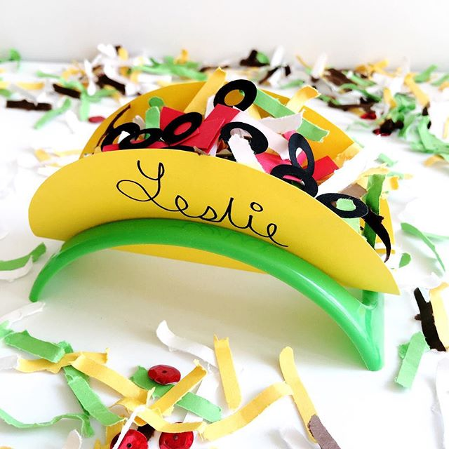 "It's Nacho Ordinary Party when there's taco confetti to toss (or serve to your guests in a DIY faux taco shell place card). How fun would this be at each place setting? - How to Create this Faux Taco: 1. Click link in profile to shop for 🌮🎉 mix 2. Cut a circle with yellow paper 3. Write guest name on ""taco shell"" 4. Curve into a taco holder 5. Sprinkle in the 🌮 confetti 6. Have a Fiesta!!! - PS: There's still time to order your Fiesta Goodies to arrive in time for Cinco de Mayo (order by Sunday April 29th). See entire Fiesta Collection via Link in Profile. - - - - - #playwithyourfood #tacolove #tacoparty #partysupplies #partygoods #crafttherainbow #partyshop #bandofun #firstfiesta #popsugar #mexicanparty #fauxfood #colorgram #partyinspo #abmlifeissweet #lcdotcomloves #studiodiymoreismore #sobestfriendsforfrosting #cactusparty #fiestatheme #fiestaparty #mexicantheme #tacogram #colorlove #FestiveFetti #myhappypopsofcolor #ihavethisthingwithcolor #imsomartha #partystylist"