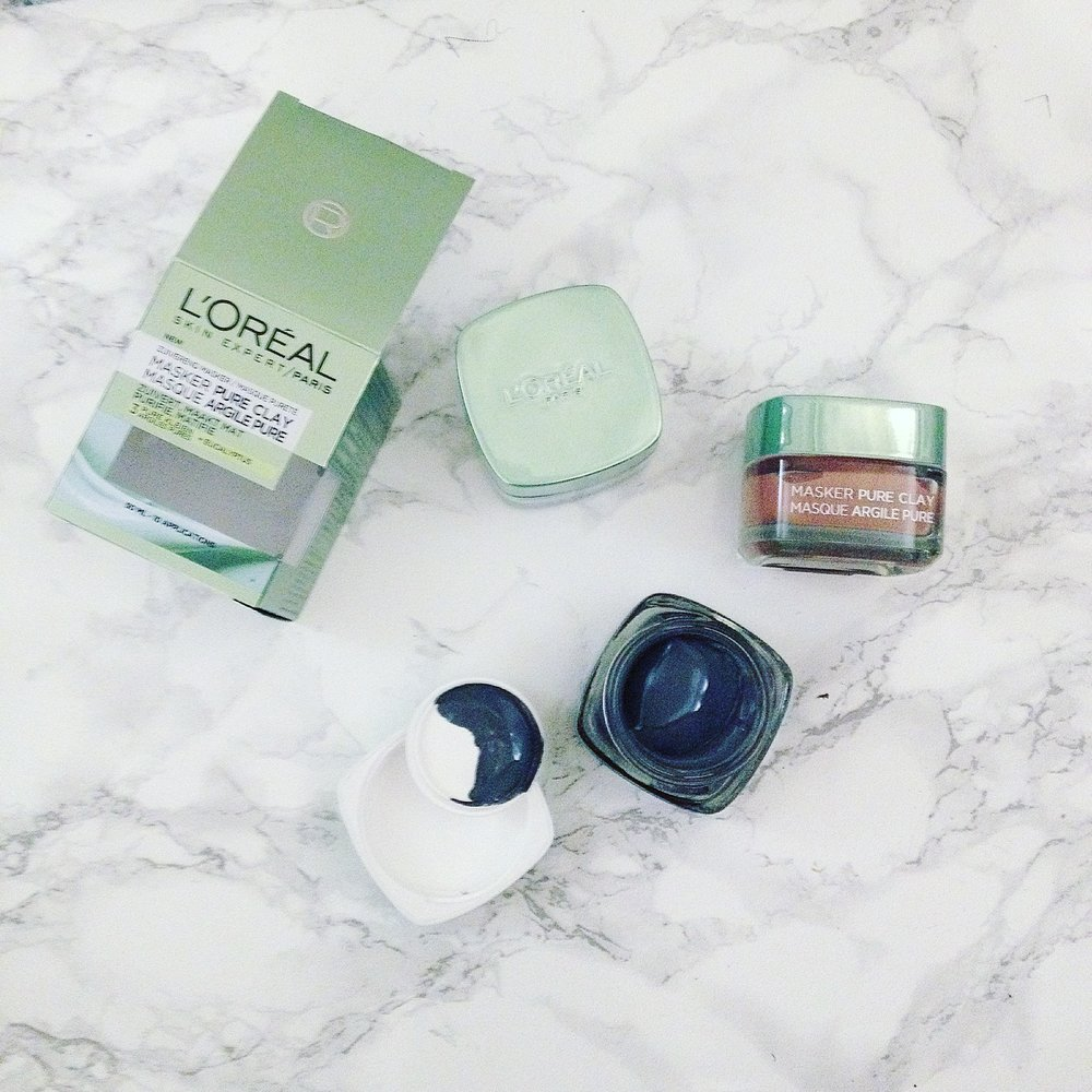 The L'oréal Pure Clay Masks