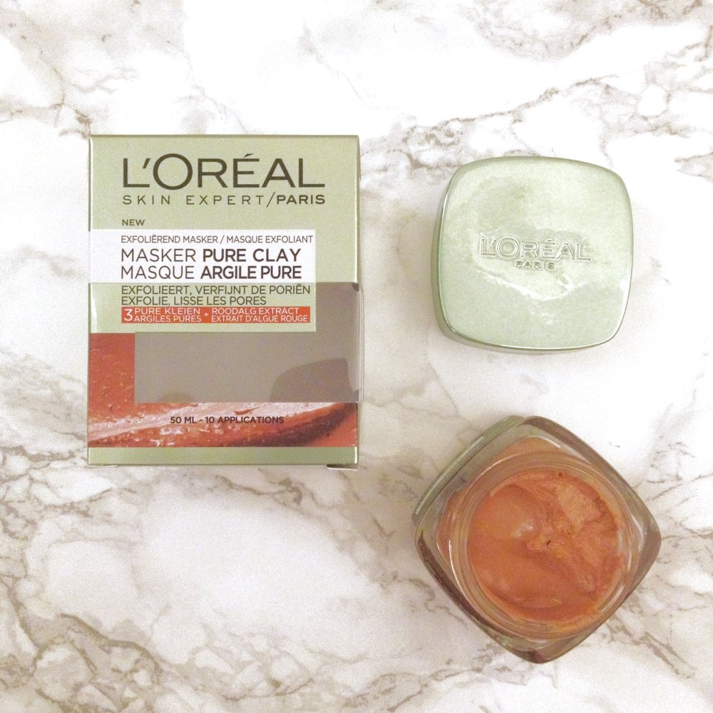 The Red Pure Clay Mask, also known as the Glow Mask. This mask contains red algae extract, known for its brightening properties.