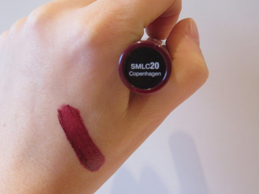 Swatch of soft matte lip cream from nyx in Copenhagen