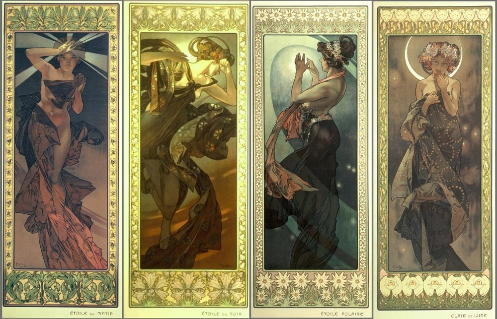 Moon and Stars - Alphonse Mucha