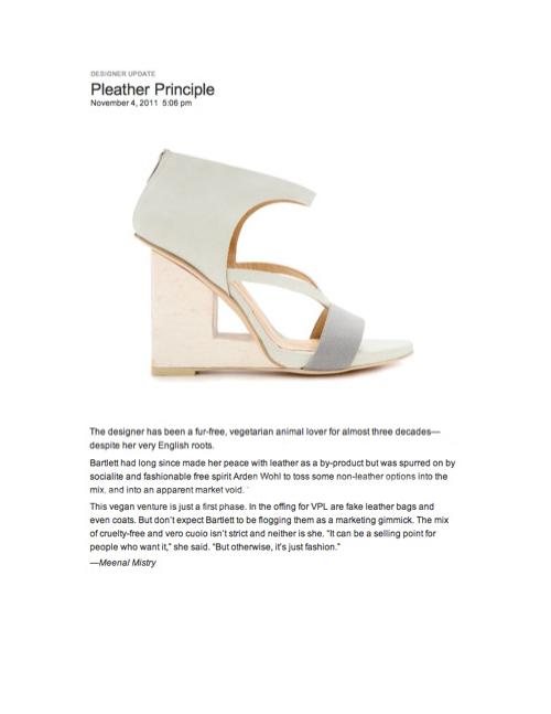 Copy of VPL/Tuttle | Pleather Principle 2011
