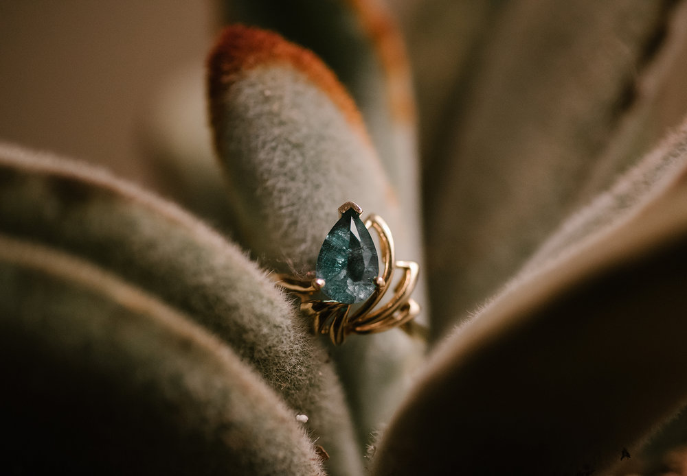 One of her beautiful vintage rings.
