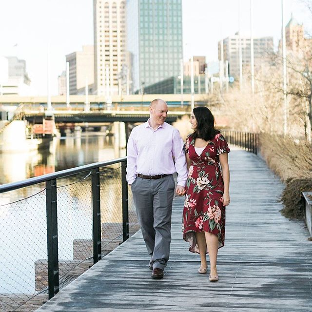 I always love seeing my couple's engagement photos! I'm so excited for Rana and Logan's wedding in November. The day is going to be amazing with so many great vendors involved! Photography: @laurelynsavannah