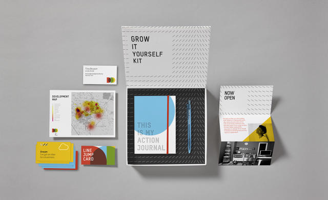 This inspiring package of tools is designed to jump-start creating a business. Image courtesy of IDEO.