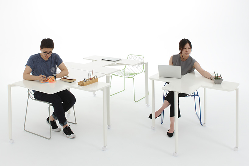 Peoples Industrial Design Office Tetris Table Designboom 02.