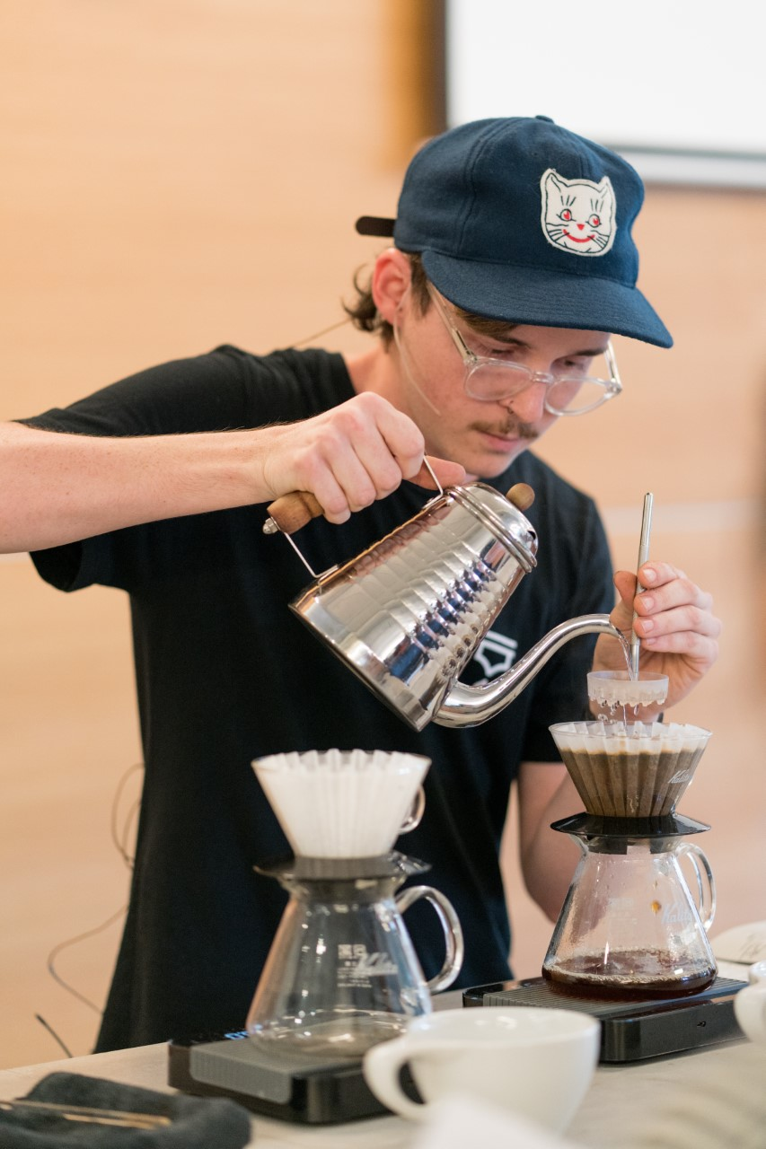 At this year's Specialty Coffee Expo, barista Shawn Marron returns as the lead volunteer of the Green Team, a group he has been part of for three years. -