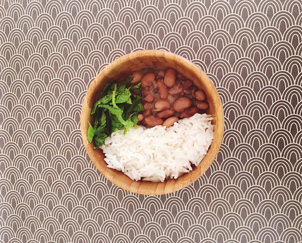 Rice and Brazilian beans