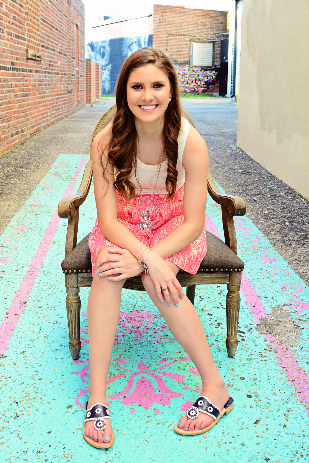 neon district Norfolk senior portrait Jan Casper Photography Virginia