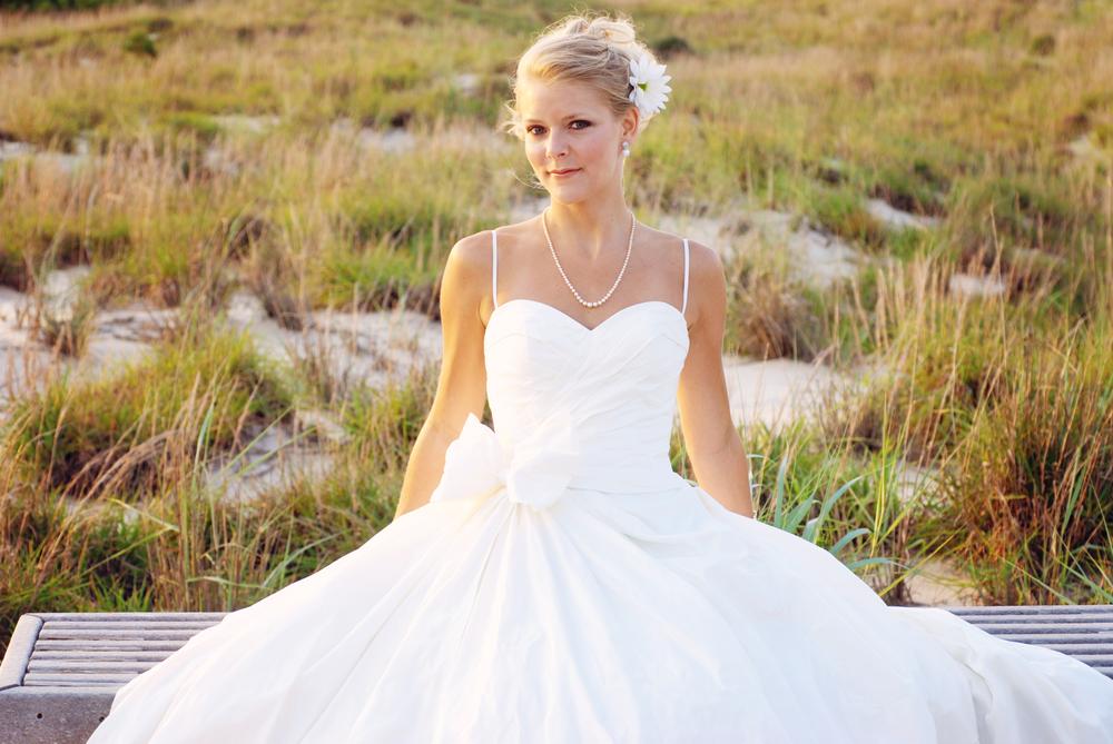 First Landing State Park Virginia bridal portrait Jan Casper Photography