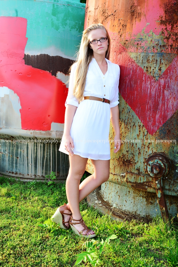 Norfolk Neon District Virginia senior portrait Jan Casper Photography