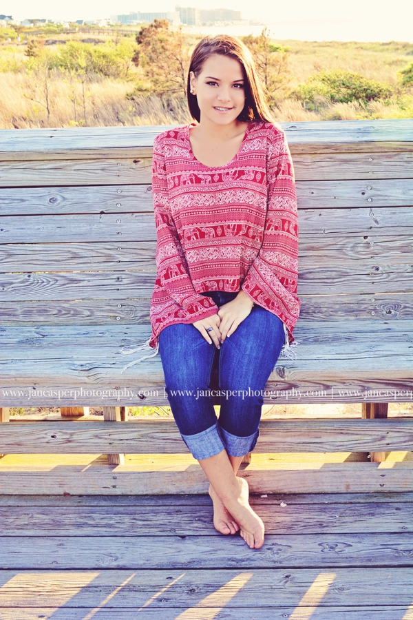 First Landing State Park Virginia senior portrait Jan Casper Photography