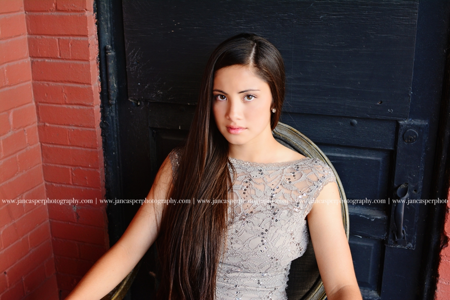 neon district Norfolk Virginia senior portrait Jan Casper Photography