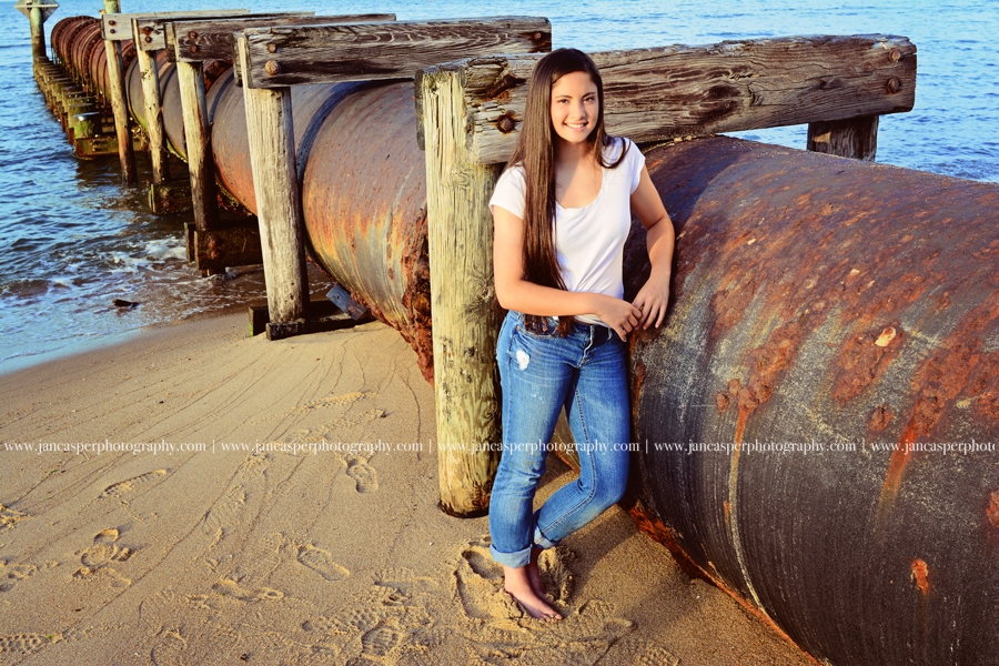 Ocean View beach Norfolk Virginia senior portrait Jan Casper Photography