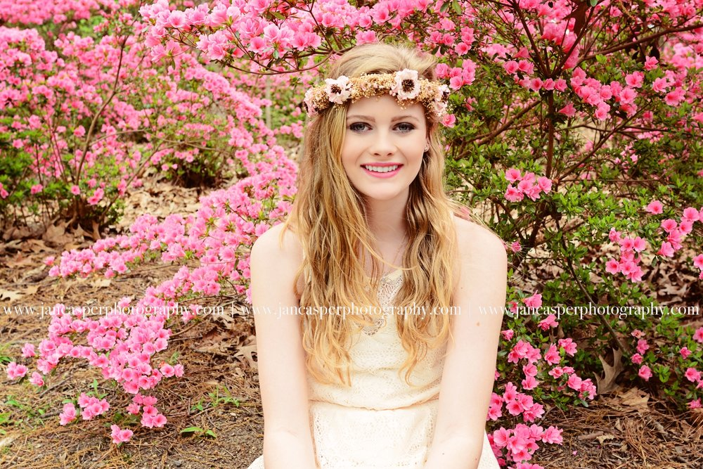 Norfolk Botanical Garden senior portrait Jan Casper Photography Virginia