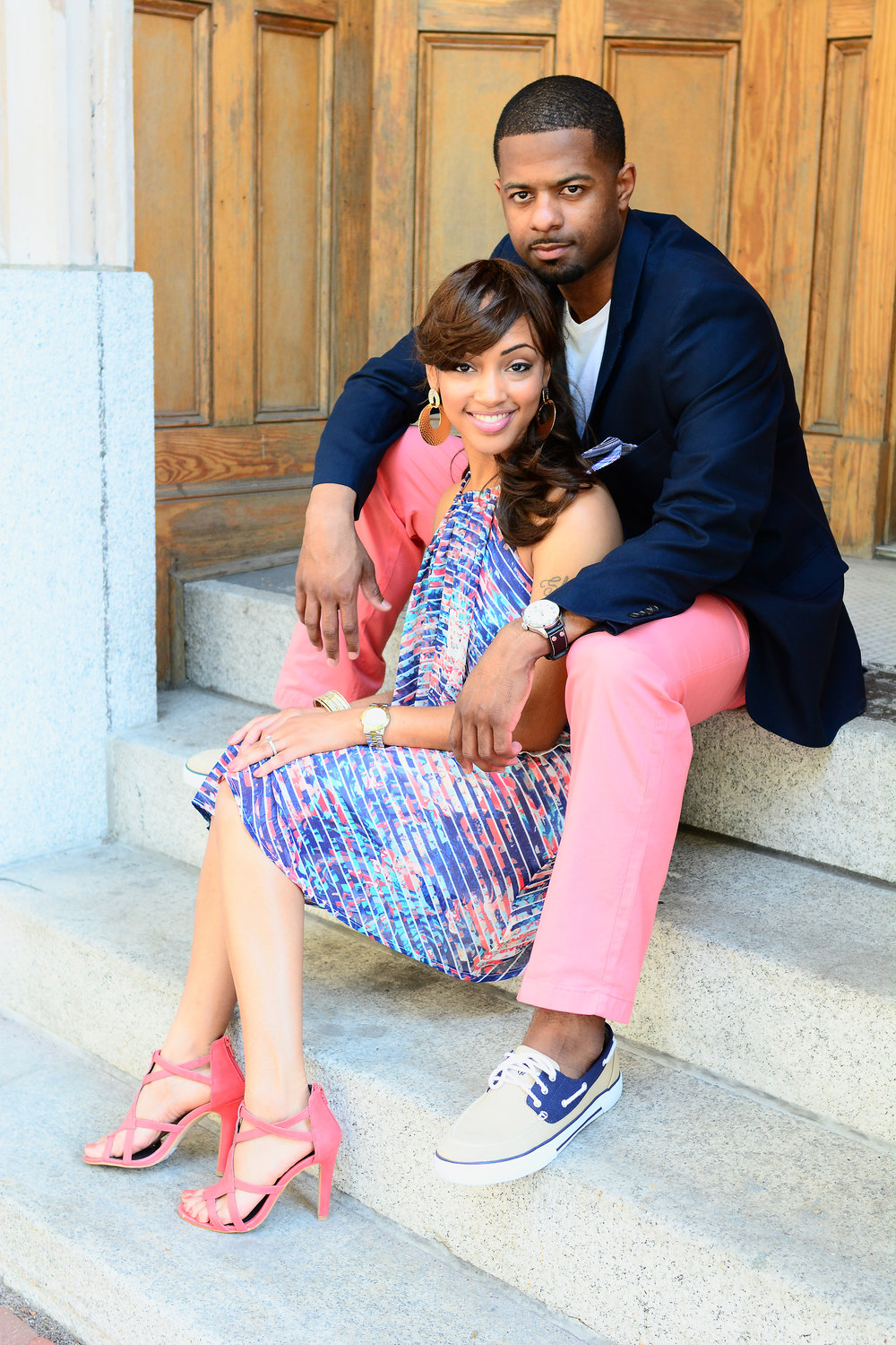 downtown Norfolk engagement portrait Jan Casper Photography Virginia