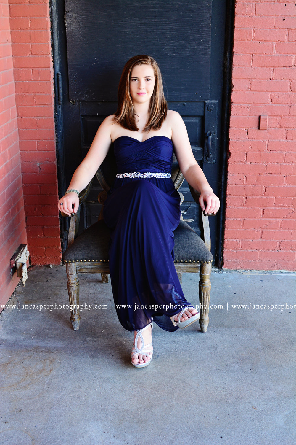senior portrait prom dress Norfolk Jan Casper Photography