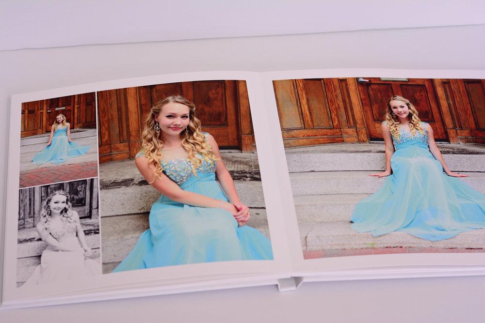hardcover book Jan Casper Photography senior portrait Virginia Beach