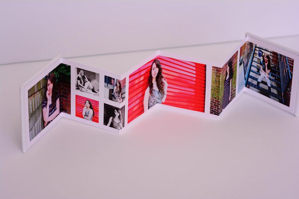 accordion book Jan Casper Photography senior portrait Virginia Beach