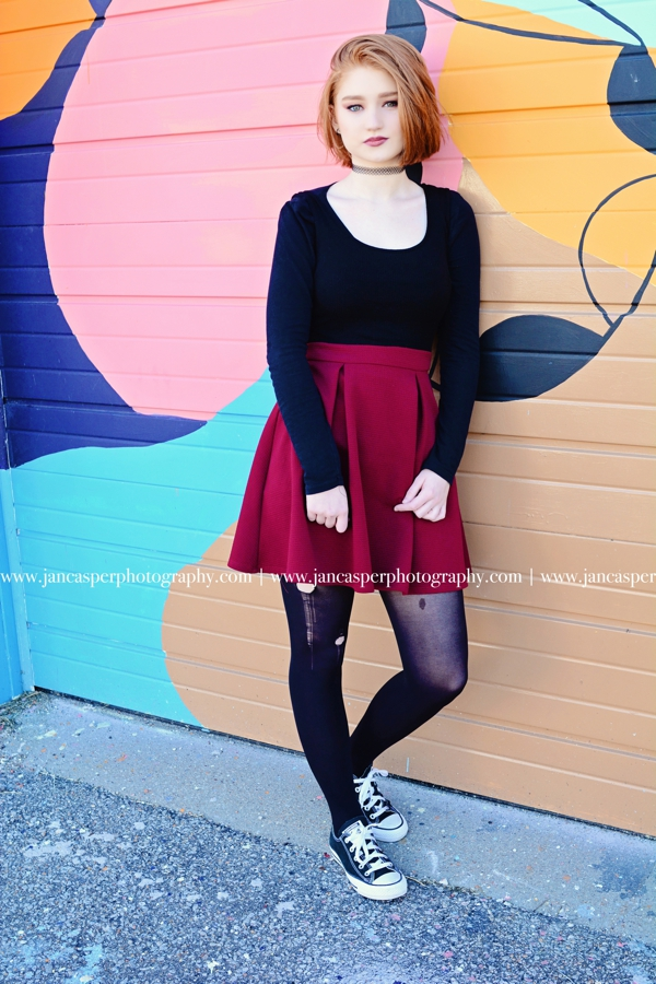 senior portrait Jan Casper Photography Norfolk Neon Arts District Virginia