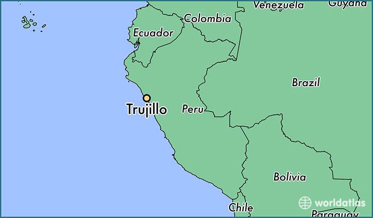 Trujillo, Peru map