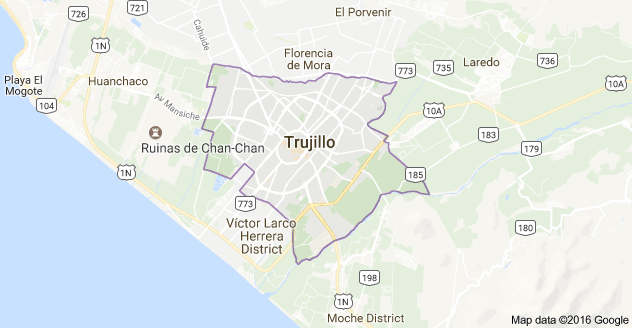 Trujillo, Peru map