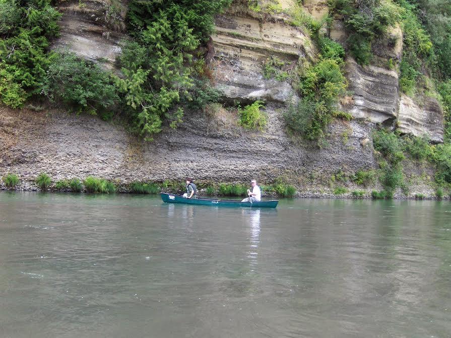 Jenna VanLooven canoeing