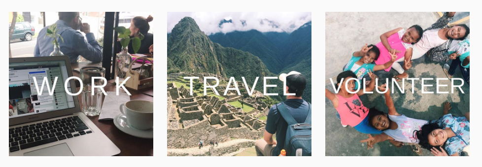 Work, travel and skills based volunteering