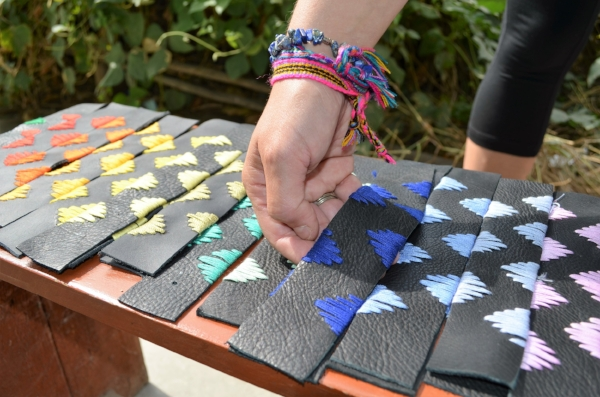 Finished products: bracelets made by women in Alto Salaverry