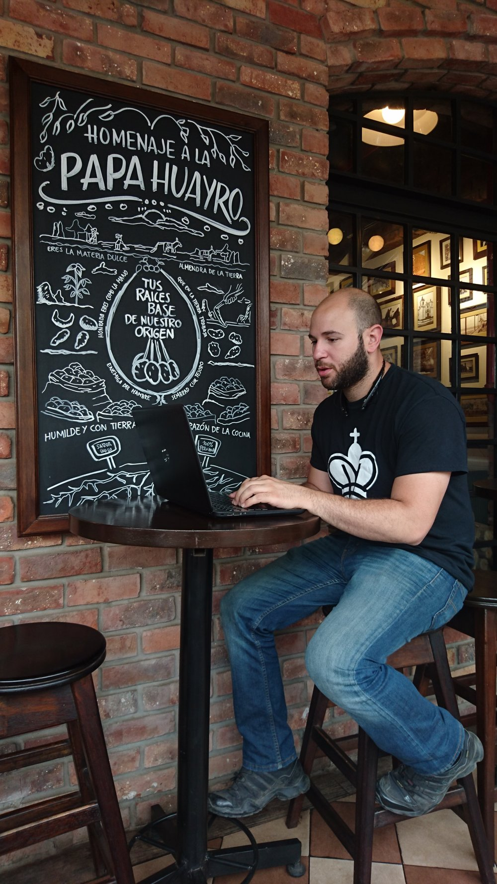 Working remotely at La Lucha in Trujillo, Peru