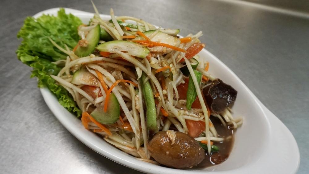 Lao Papaya Salad (Tum Pu Pla-Rah)
