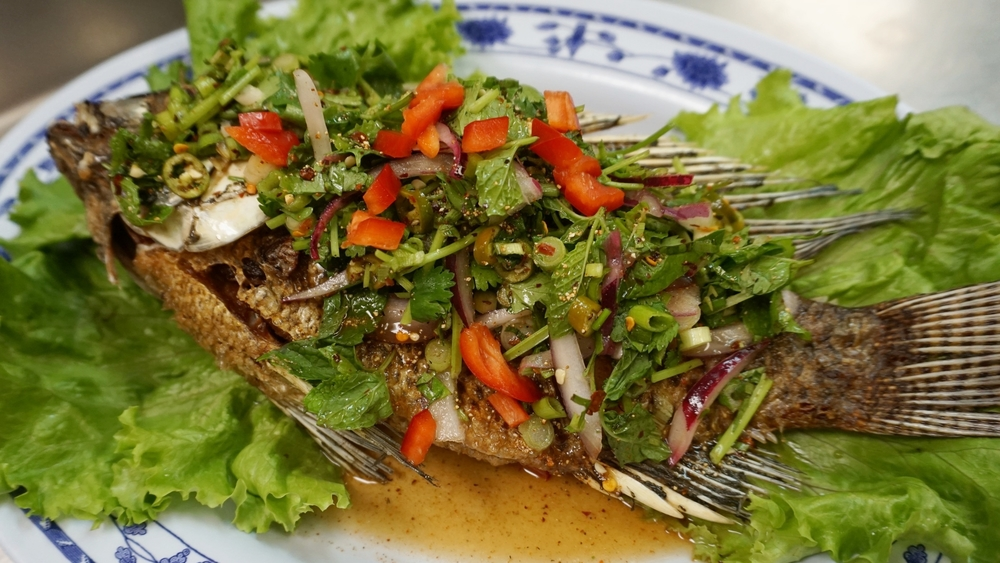 fried fish laab