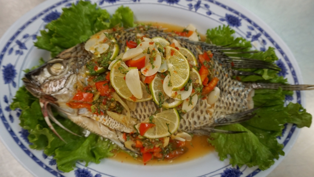 steamed sour fish