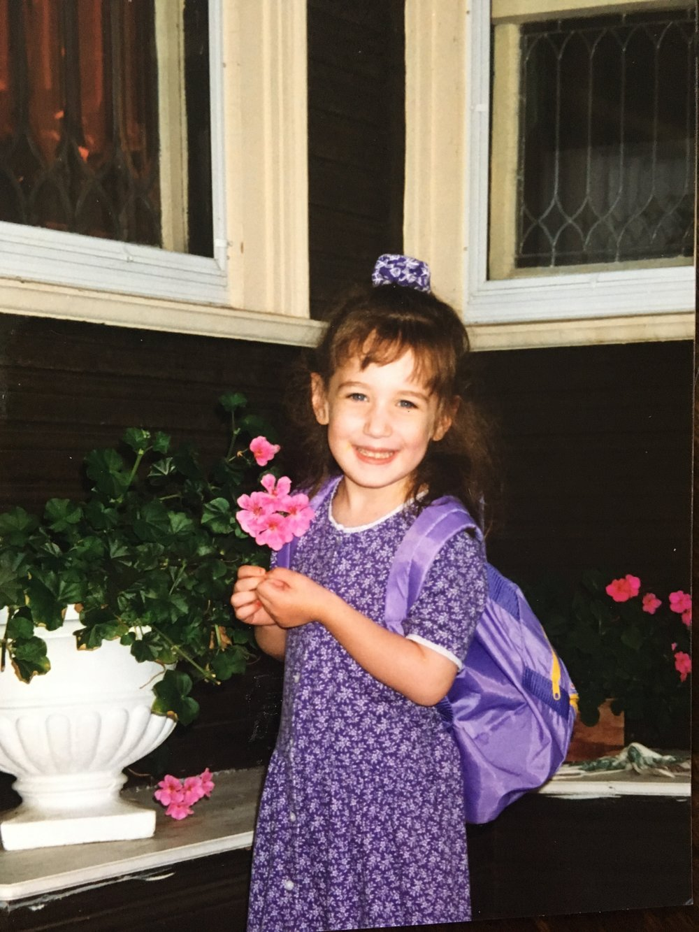 Stephanie kindergarten backpack photo.JPG