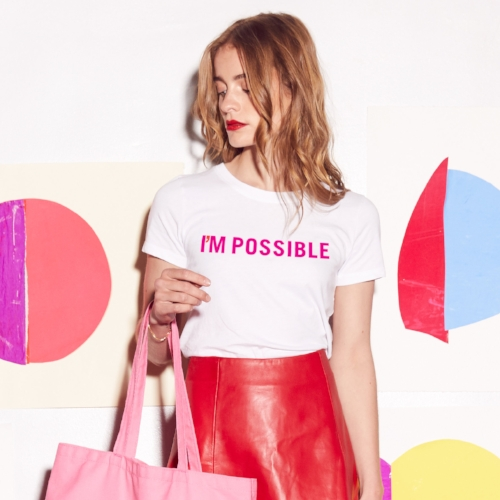 I'M POSSIBLE Tee - $5 of each tee from Prinkshop sold supports STF, created in collaboration with Glamour's the Girl Project.