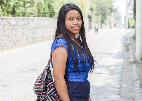 STF Scholar Adelita in Guatemala was the first of her 8 sisters to graduate high school. Today, she attends her local university, studying tourism and hoping to travel the world.