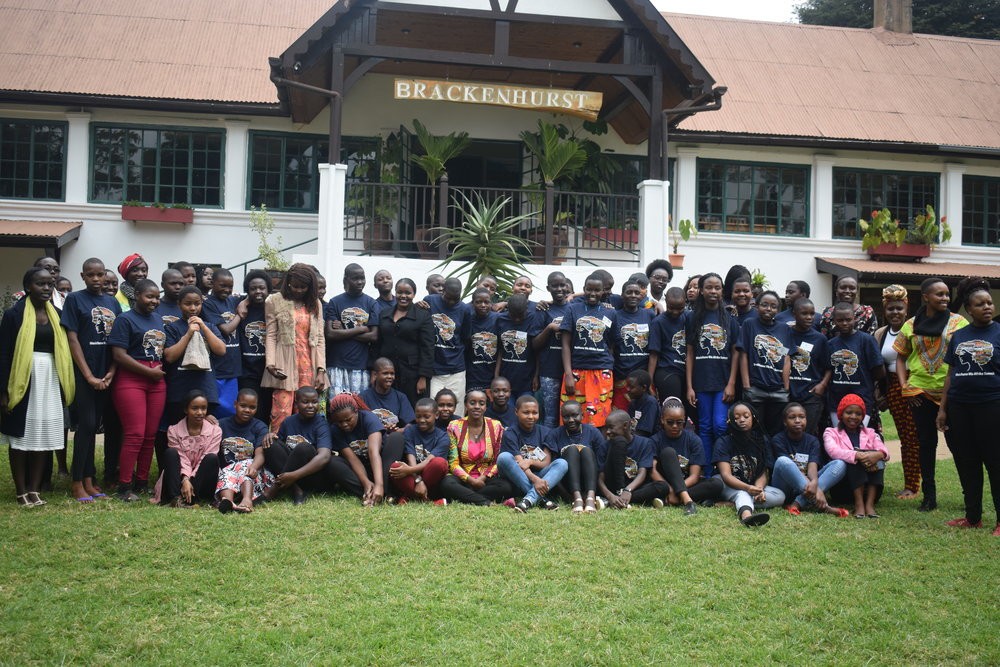 Life Lifters girls with mentors & staff from STF Partner Akili Dada in Kenya